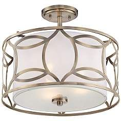 roxbury 16 wide antique brass ceiling light light fixtures rh pinterest com