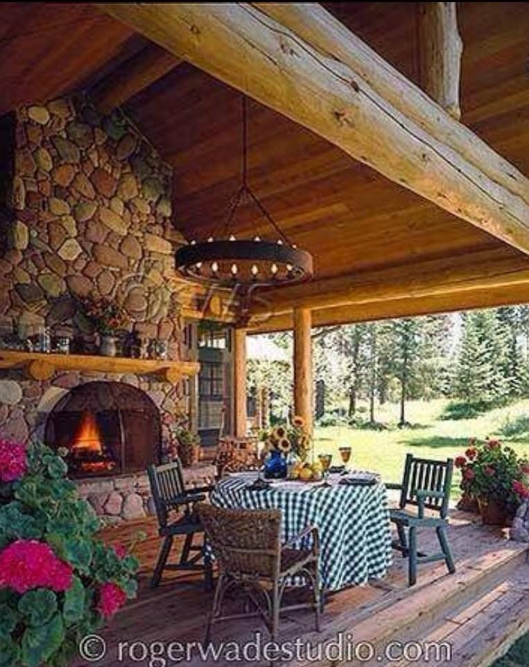 Superb Outdoor Kitchen Decks And Patios Cabin Porches Log Home Best Image Libraries Barepthycampuscom