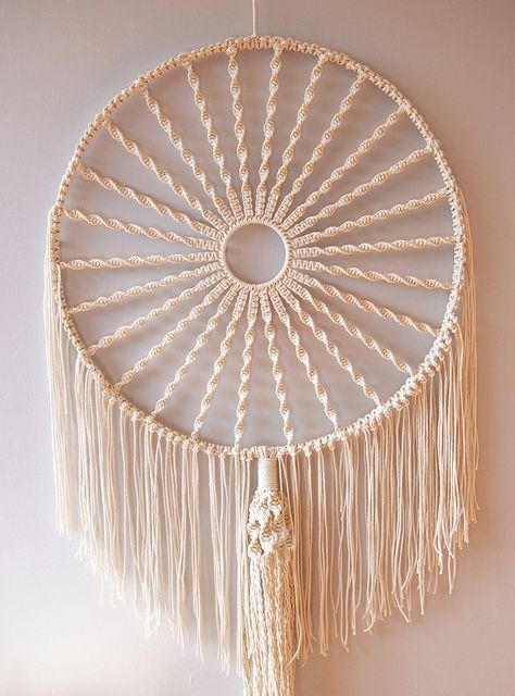 """15/"""" Inch Round Large Wood Grain Craft Ring Macrame Wall Hangings Dreamcatchers"""