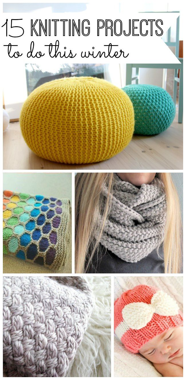 15 Knitting Projects to do this Winter - My Life and Kids