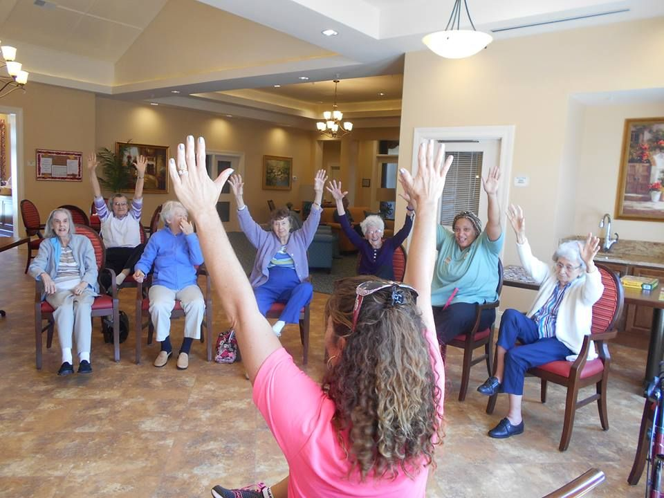 Exercise time! Memory care, Poets walk, Memories