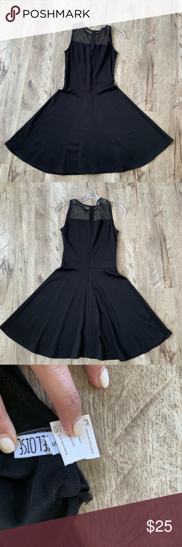 Black Skater Style Dress With Black Sheer Top Skater Style Dress Black Skater Dress Black Sheer Top [ 1740 x 580 Pixel ]