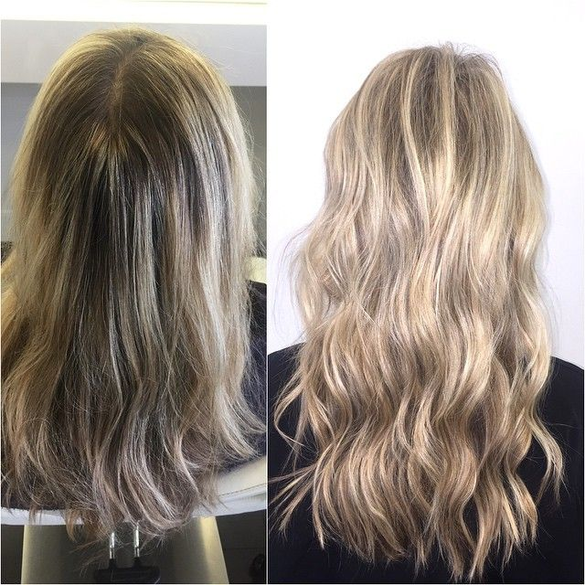 Beforeleft afterright bleed marks and brassy highlights to beforeleft afterright bleed marks and brassy highlights to crisp clean highlights and invisible lowlights to get rid of the old bleed marks pmusecretfo Choice Image