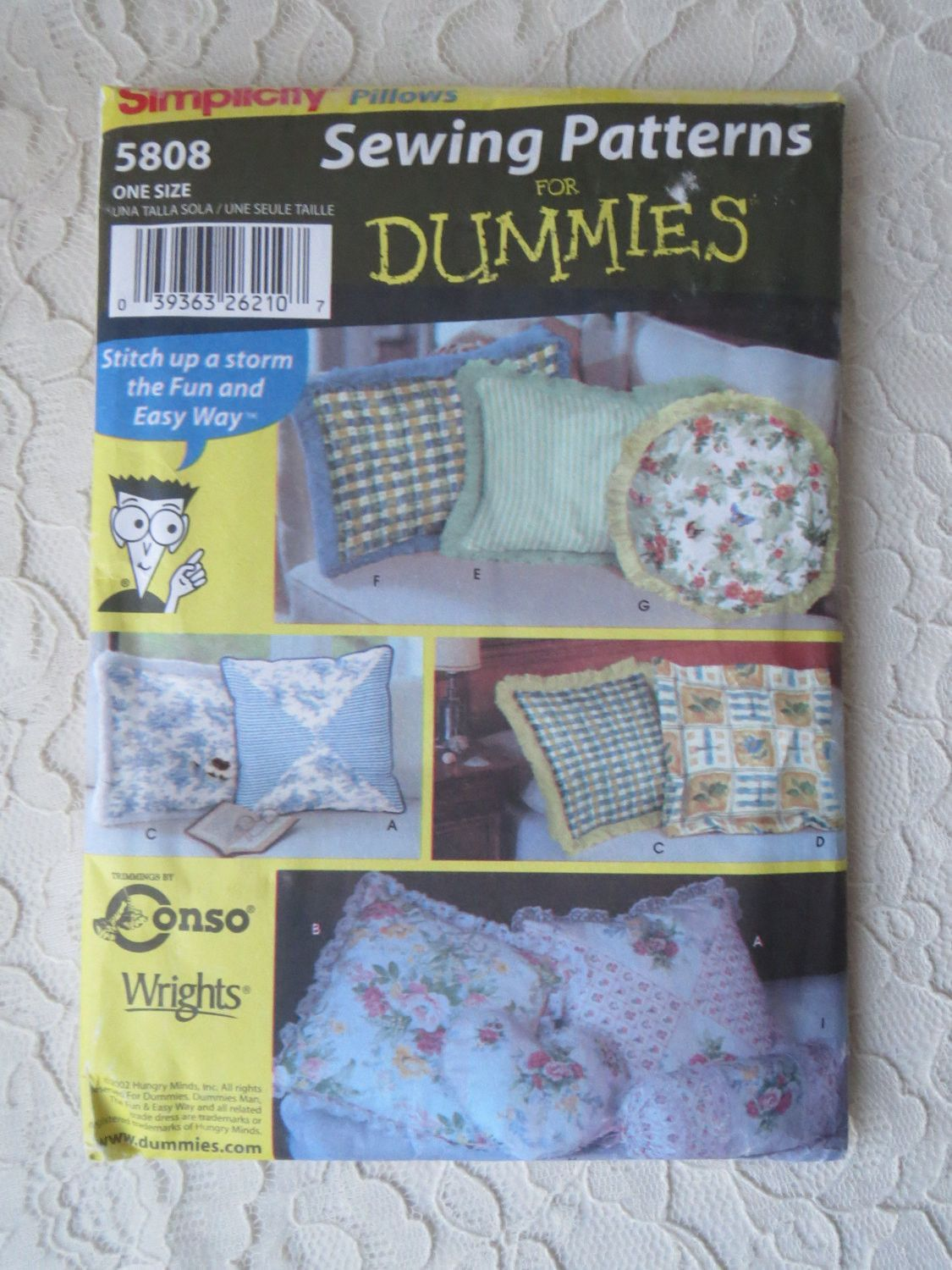 Simplicity 5808 Sewing Pattern For Dummies Pillows with Variations Round Pillow Square Pillow Heart & Simplicity 5808 Sewing Pattern For Dummies Pillows with Variations ... pillowsntoast.com