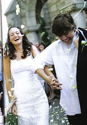 Zac Hanson and Kate Tucker at Their Wedding 2006