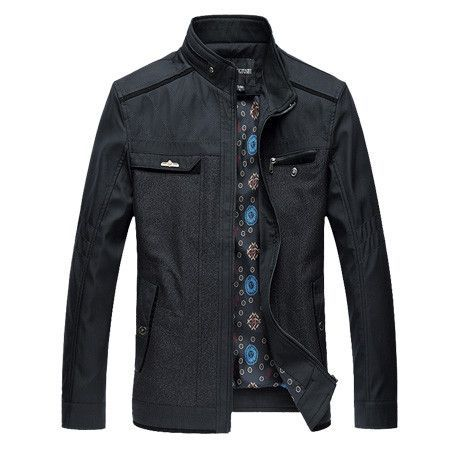 Mens Casual Jackets Stand Collar High Quality Autumn Winter Zipper Button Coat Large Size 7XL 8XL Clothes Male Grey Green K95