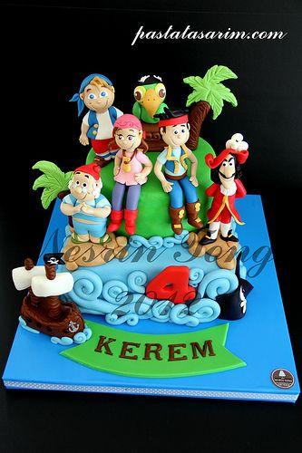 Jack neverland pirates cake kerem pirate party ideas cake pirate birthday cake cupcake - Jake et les pirates ...