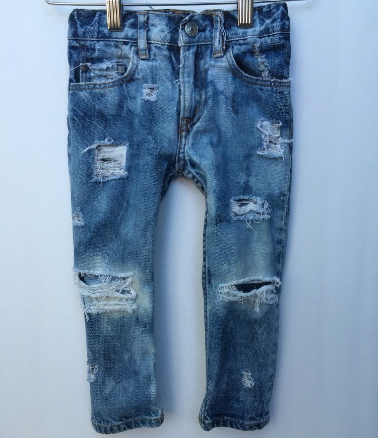 Distressed Kids Jeans Boy Jeans Girl Jeans Denim Pants Distressed Fashionable Pants I love it here distressed jeans