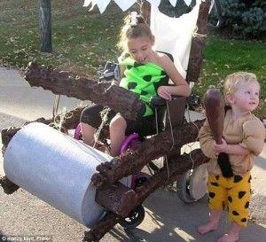 halloween wheelchair flintstones