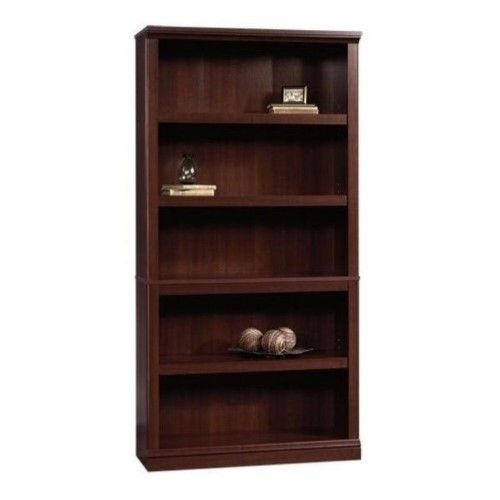 Bowery Hill 5 Shelf Bookcase In Select Cherry 5 Shelf Bookcase Shelves Etagere Bookcase