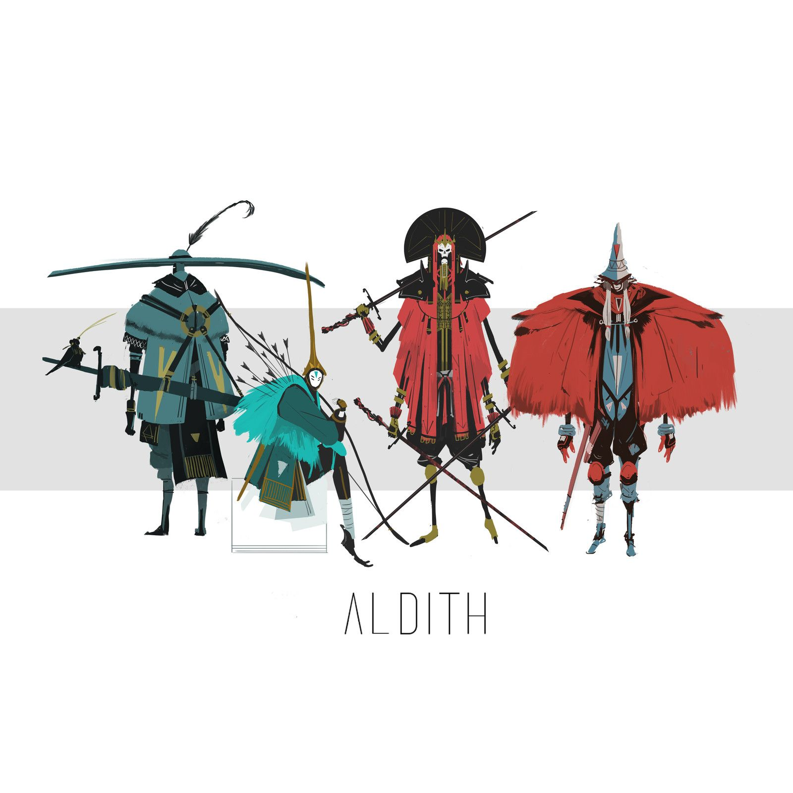 Aldith Line Up, Janice Chu on ArtStation at https://www.artstation.com/artwork/y68JQ