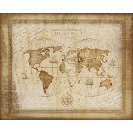 World map canvas art jennifer pugh 24 x 30 canvases walmart world map canvas art jennifer pugh 24 x 30 gumiabroncs Images