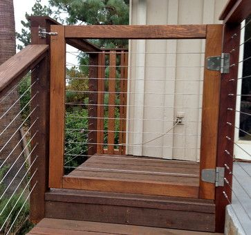 Wood Framed Cable Railing Systems Modern Home Fencing And