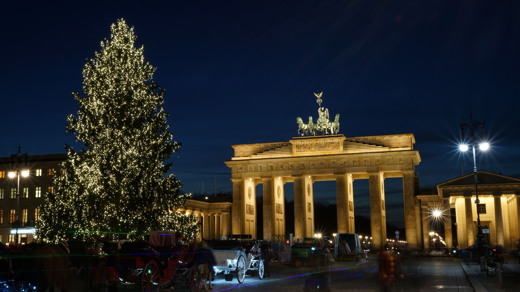 Weihnachten In Berlin Brandenburger Tor Germany Lamp Post Light Box Berlin