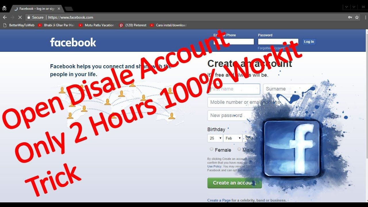 how to recover my disabled fb account 2018 100% Workit trick