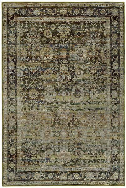 Oriental Weavers Andorra 7125c Green Brown Area Rug With Images