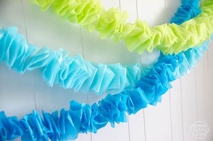 Photo of DIY Ruffled Tissue Garland- DIY Ruffled Tissue Garland  DIY Ruffled Tissue Paper…