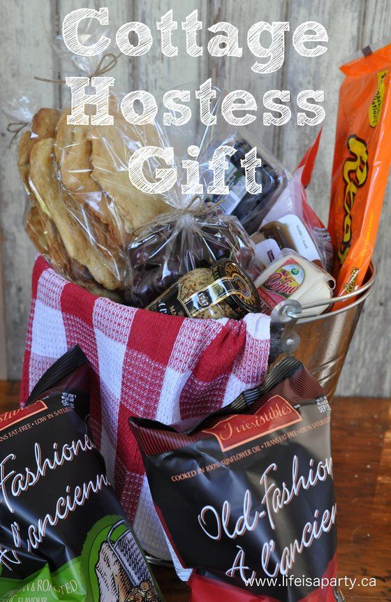 Cottage Hostess Gift Several Cute Galvanized Bucket Food Gift