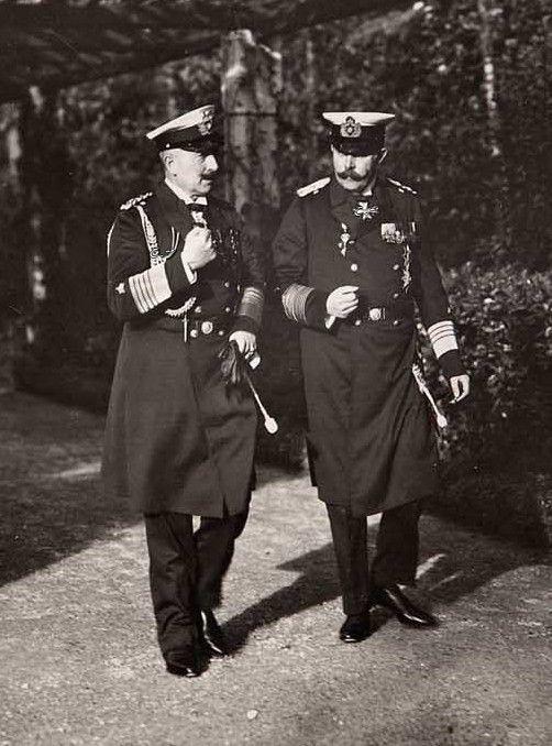 Archduke Franz Ferdinand With Kaiser Wilhelm Ii May 1914