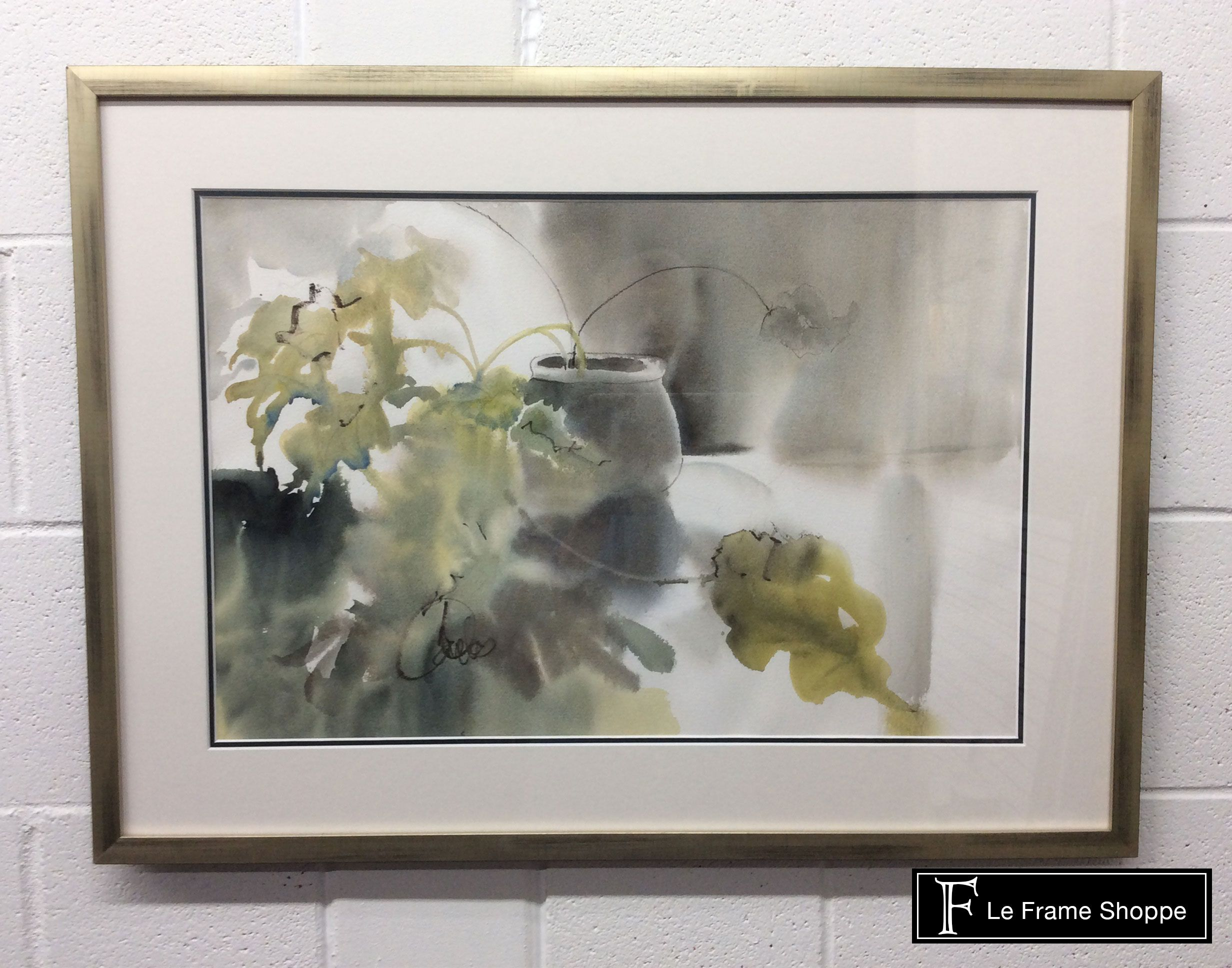 This Peaceful Water Color Is Framed Using Molding From
