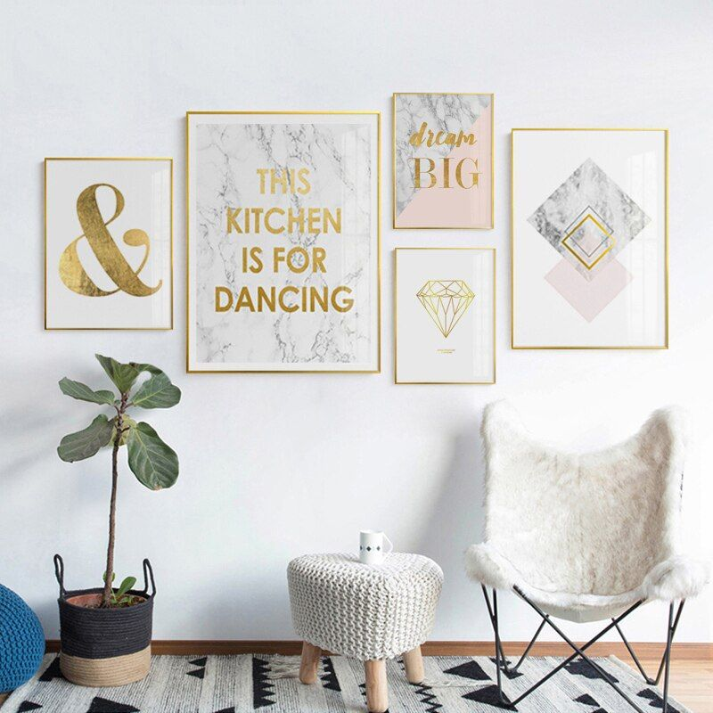 #abstract #geometry #blending #nordic #golden #words #canvas #painting #poster #wall #pictures #living #room #modern #decoration #decor #2-62 #home