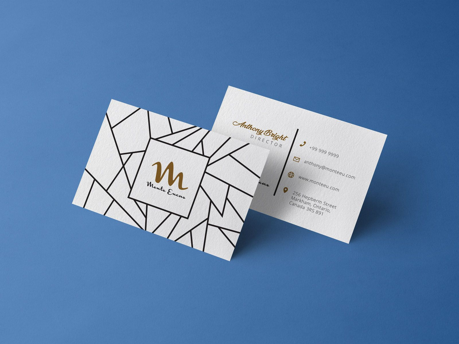 Free Front Back Business Card Design Template Mockup Psd Free Business Card Design Templates Business Card Template Design Free Business Card Design