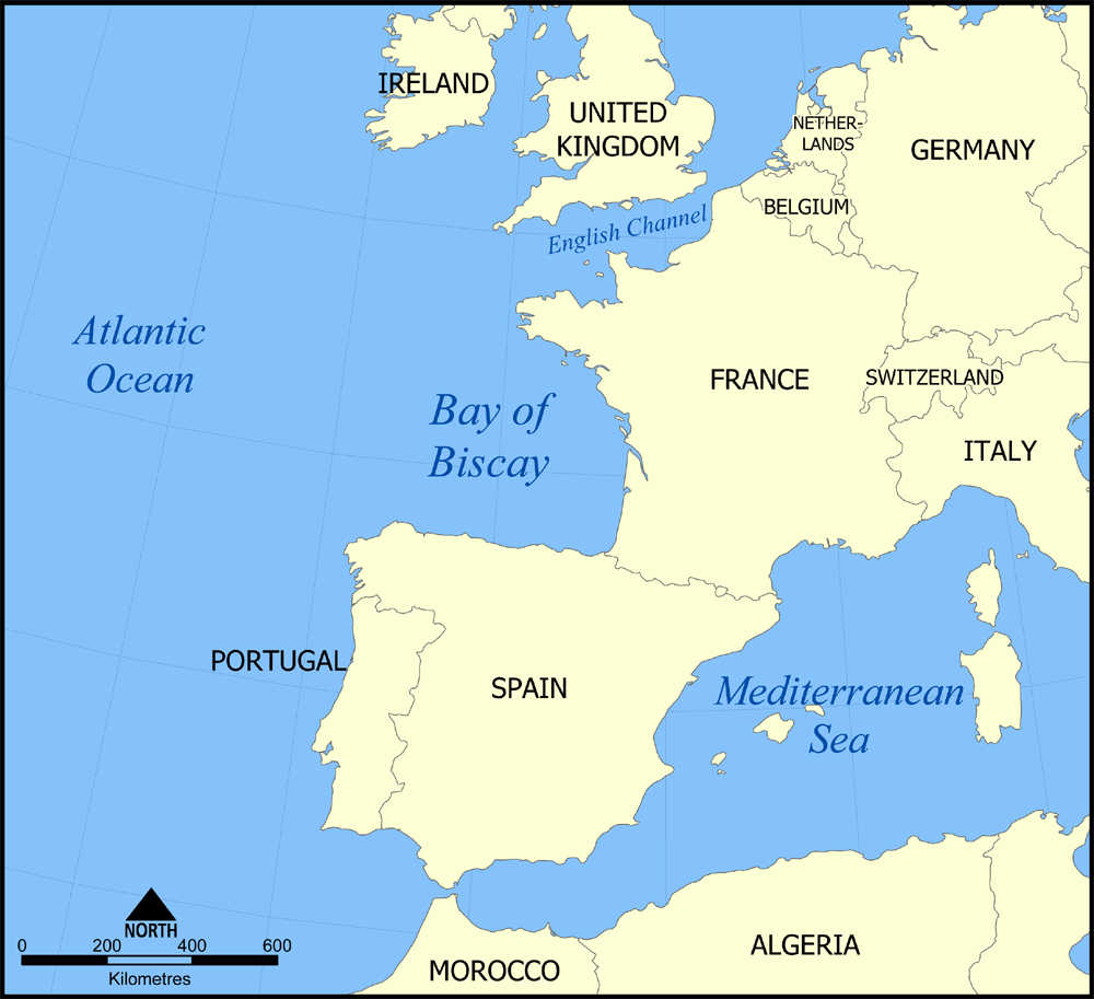 Map Of Coast Of France Portugal And Spain Google Search Summer