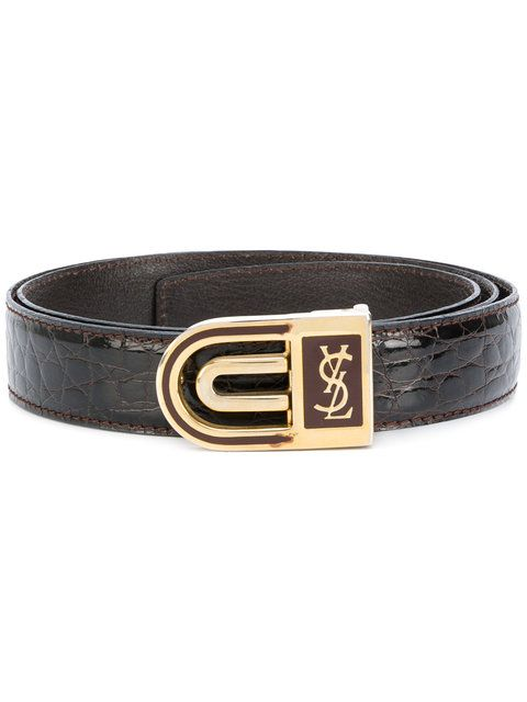 abd351fcab86 Yves Saint Laurent Vintage curved buckle belt