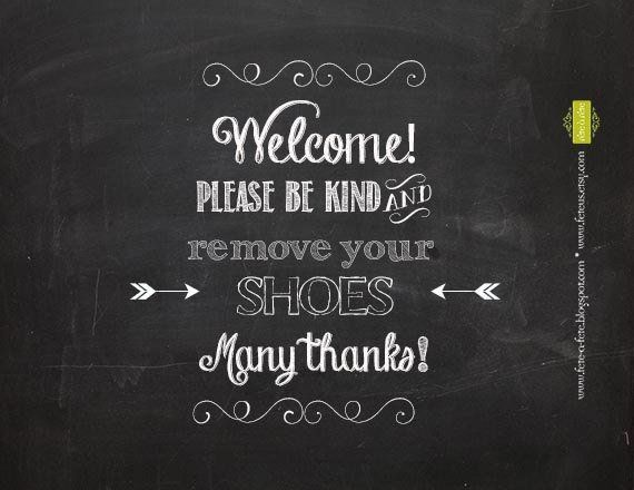 photograph relating to Please Remove Your Shoes Sign Printable titled You should Take out Your Footwear 8x10\