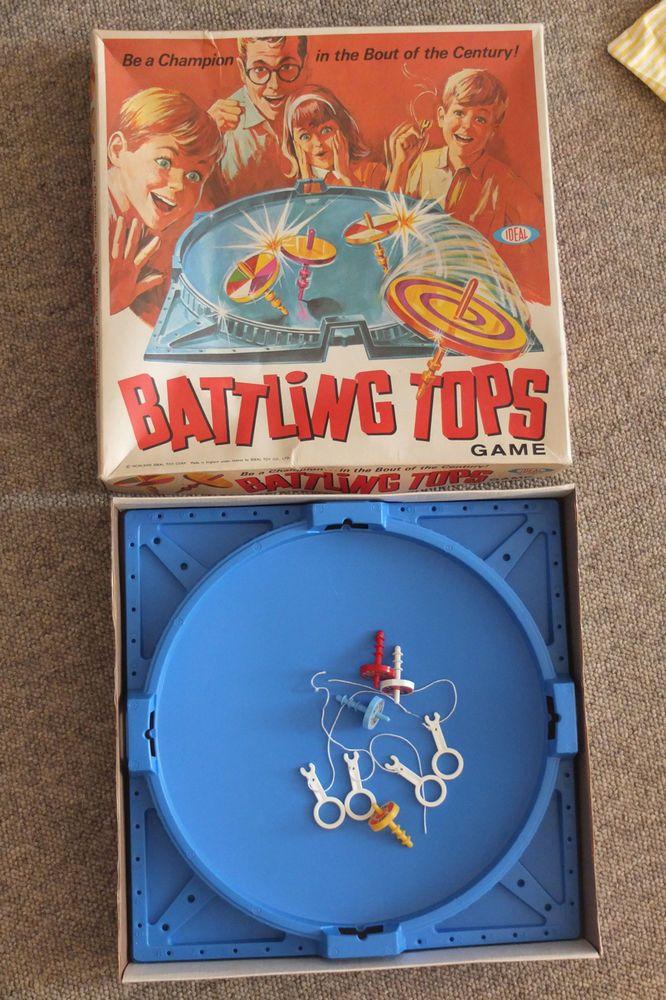 Battling Tops by IDEAL 1969 Board Game vintage Vintage