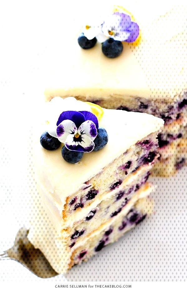Lemon Blueberry Cake | The Cake Blog - bizcochos -
