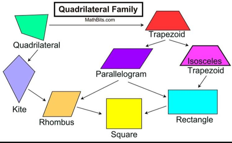 These Are 6 Polygons That Are Quadrilaterals Quadrilaterals Are 4 Sided Shapes That Has The Interior Angel Sum Of Quadrilaterals Maths Solutions Hs Geometry