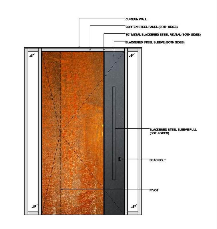 Superbe Corten Steel Front Door