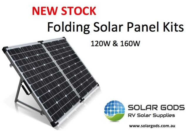 New Folding Solar Panel Kits 120w 160w Perfect For Camping Caravaning Bosche Spencersmith Solar Energy Panels Solar Panels Solar