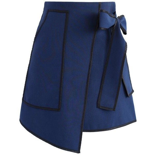 c59beb1941 Chicwish Urban Vogue Flap Skirt in Navy ( 45) ❤ liked on Polyvore featuring  skirts