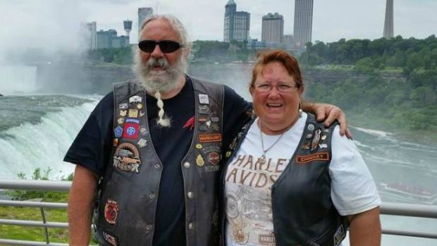 Jeff and Jeri Hamilton were wearing these vests when they were in a horrible motorcycle accident in Wyoming last August. Their angels of mercy, a couple from Kelowna, B.C. have been found and they will all try to meet at the motorcycle rally in South Dakota in August/16.