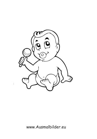 Ausmalbild Baby Zum Kostenlosen Ausdrucken Und Ausmalen Ausmalbilder Malvorlagen Kindergarten Grundschule Mensc Ausmalbilder Ausmalen Ausmalbild