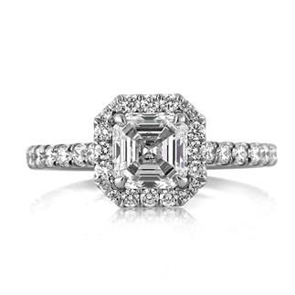 23f70124b4314 1.95ct Asscher Cut Diamond Engagement Ring available at Markbroumand ...