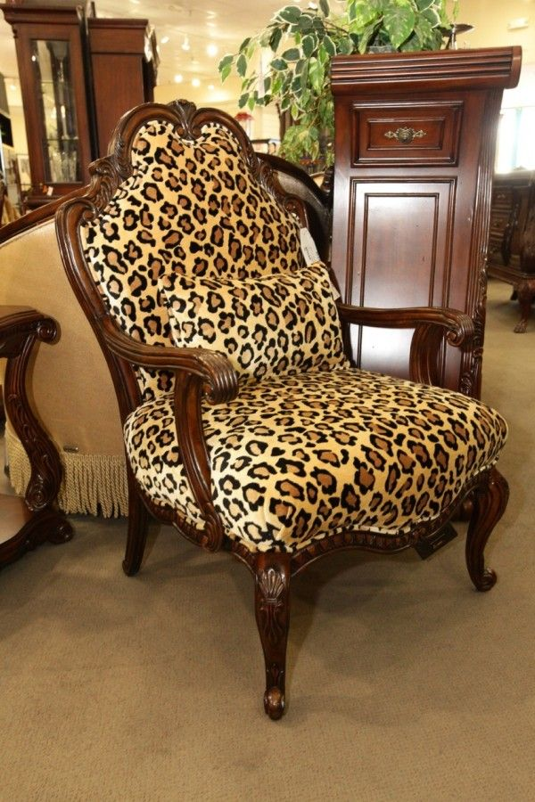 Leopard Print Accent Chair Animal Print Furniture Printed