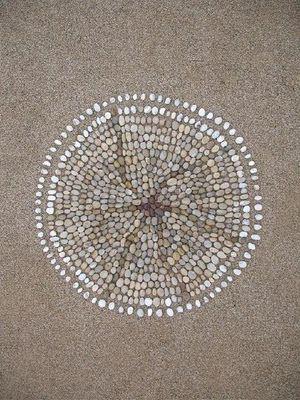 Sue Lawty's pebble mandala.