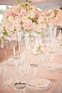 Romantic Rustic Spring Wedding Centerpiece