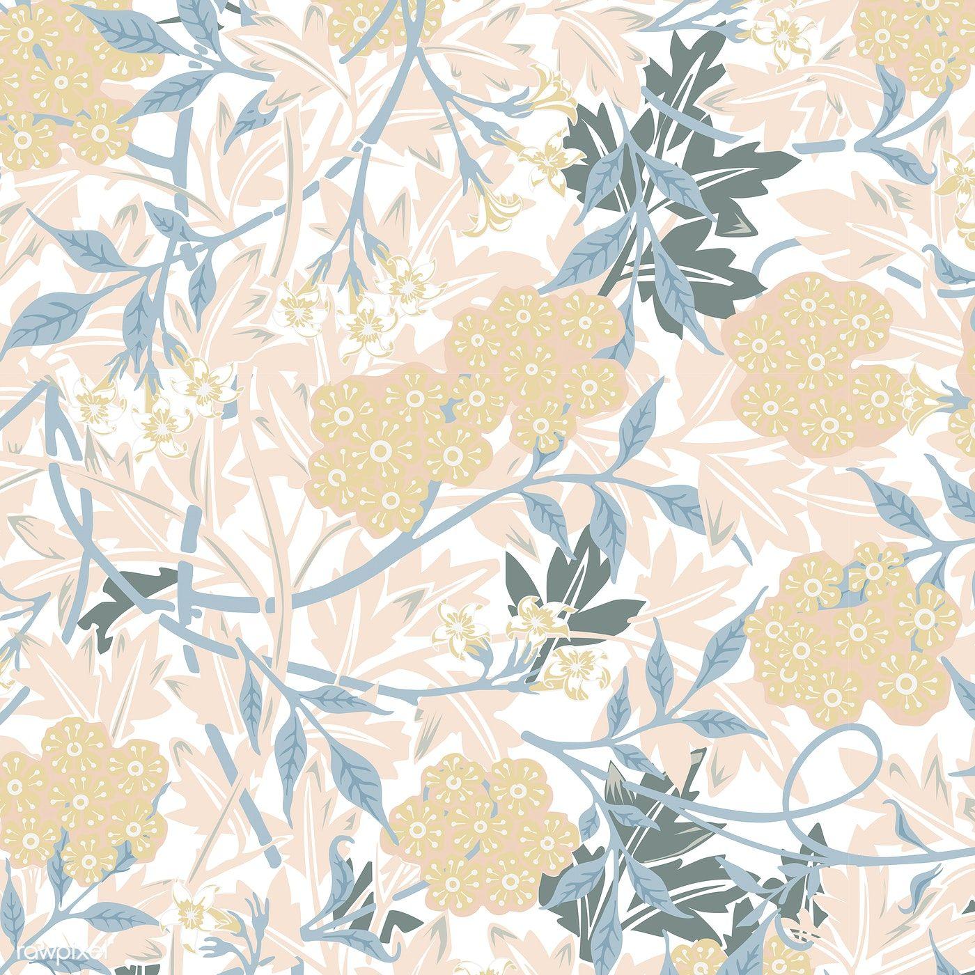 Download Premium Vector Of Vintage Illustration Of Jasmine 496147 Vintage Illustration Illustration Wall Art William Morris Patterns