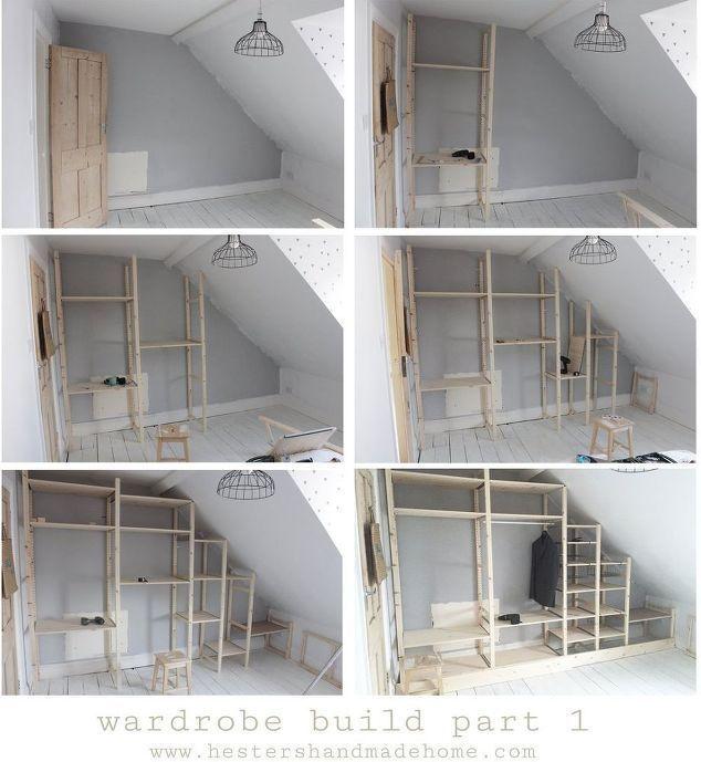 Wardrobe with recessed doors, wardrobe, doors