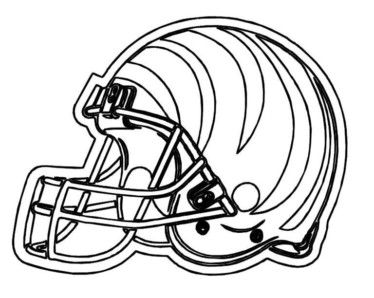 nfl cincinnati bengals coloring pages   Football Helmet Cinncinnati Bengals Coloring Pages ...