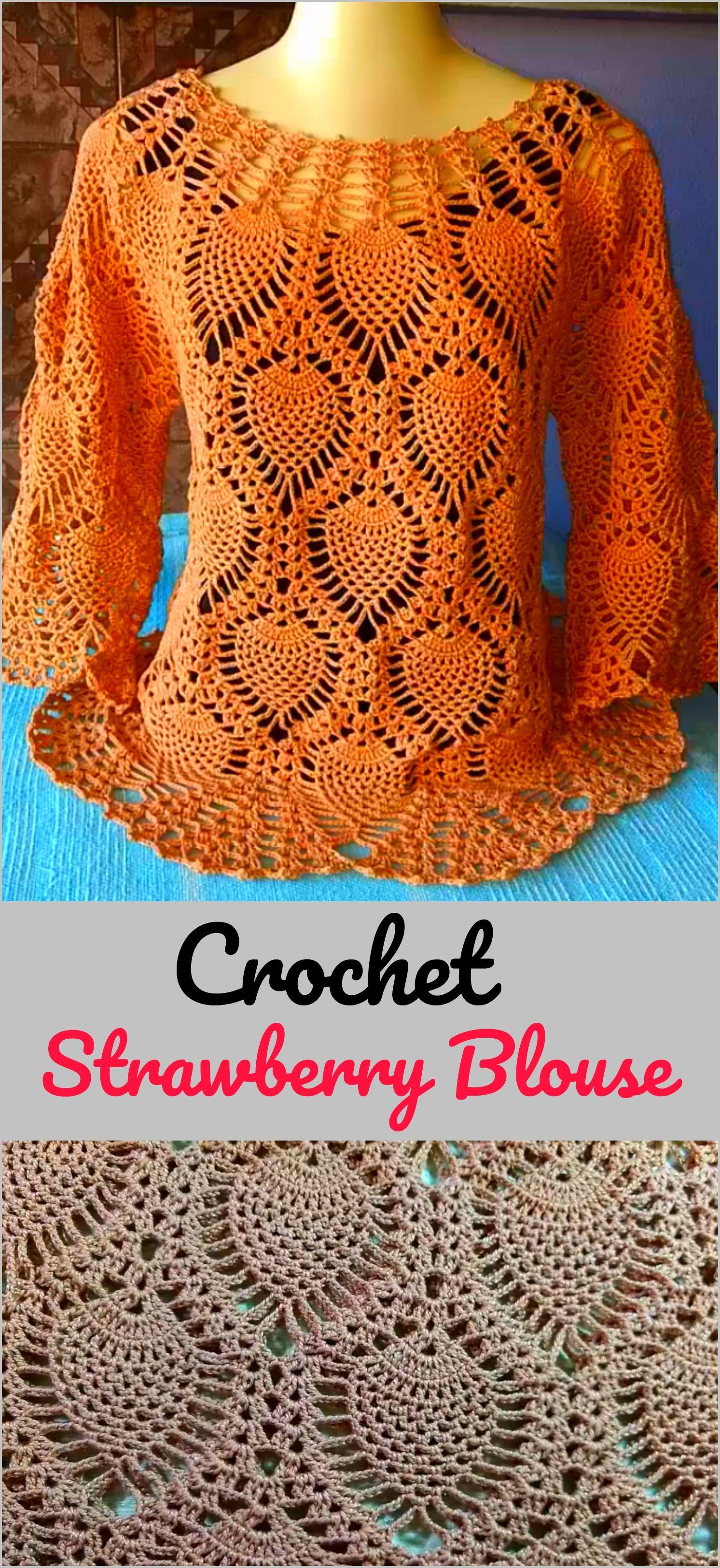 Crochet Strawberry Blouse | Crocheted things | Pinterest | Blusas ...