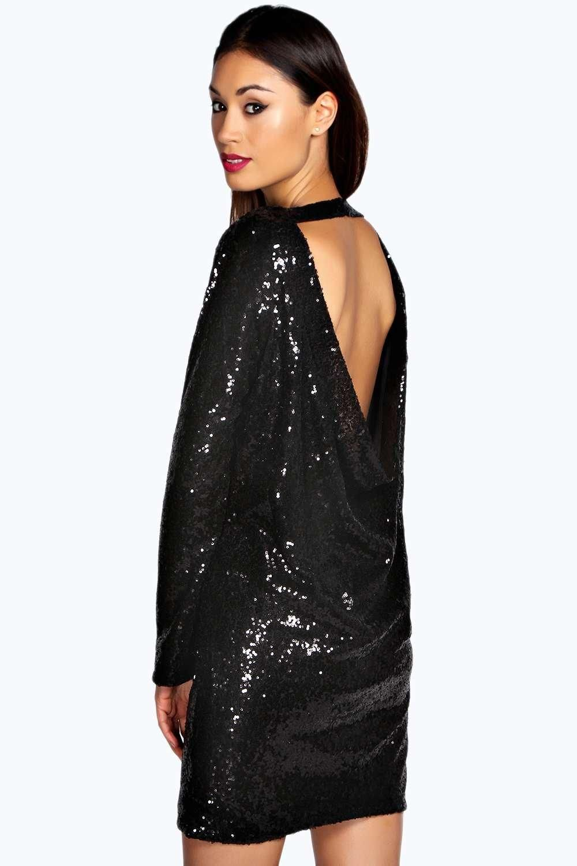 15+ Black sequin cowl back dress trends