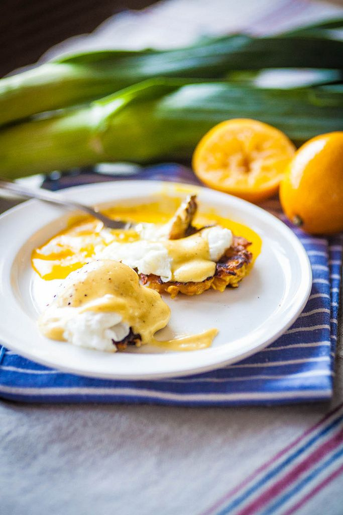Butternut Squash & Leek Latke Benedict - The Crepes of Wrath