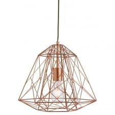 GEOMETRIC CAGE ceiling pendant in copper