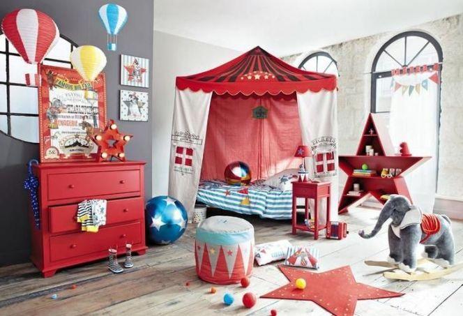 Une chambre d\u0027enfant sur le thème du cirque   wwwm-habitatfr