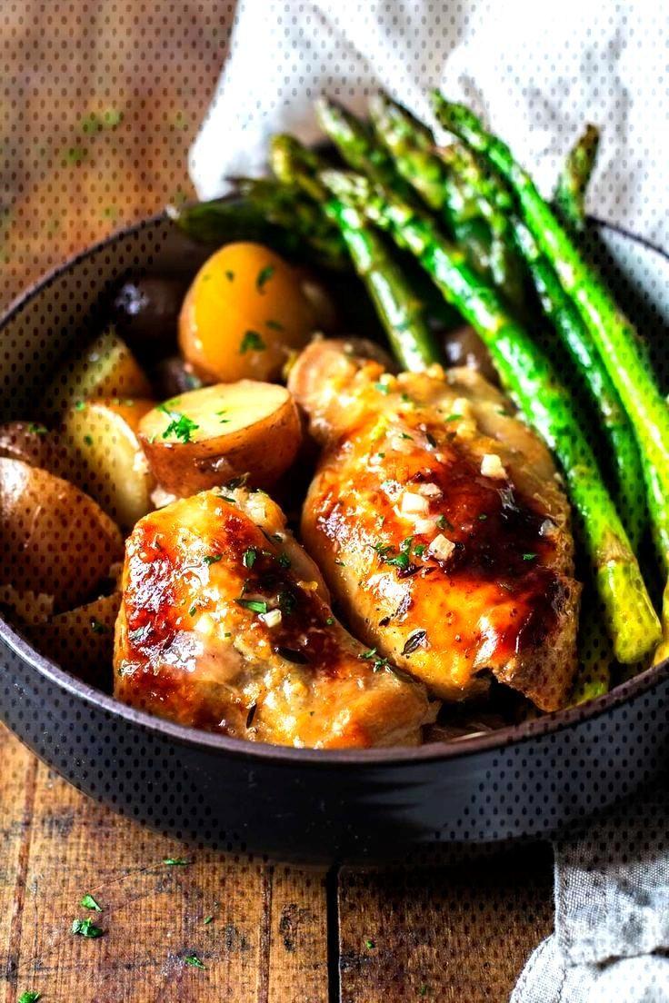 An easy Slow-Cooker Lemon Chicken recipe full of lemon amp delicious garlic. Potat... - Chicken Recip